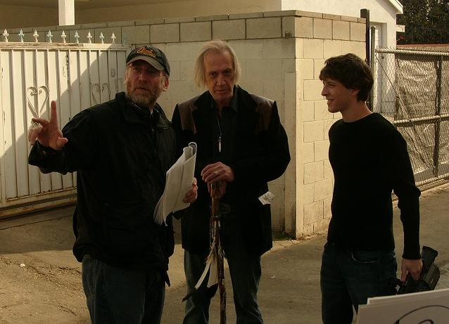 (L-R) Director David Lee Miller, David Carradine and Gabriel Sunday