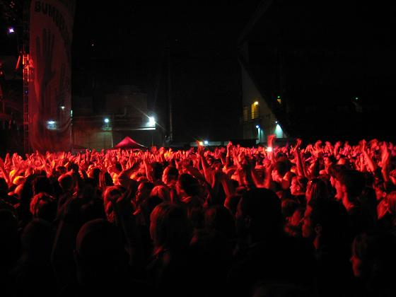The crowd for Michael Franti