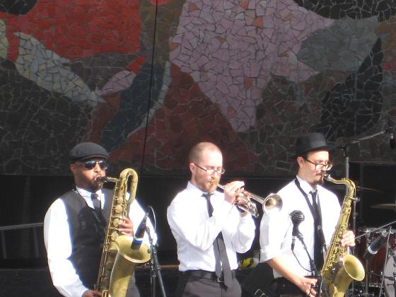 BJL brass section later in the day