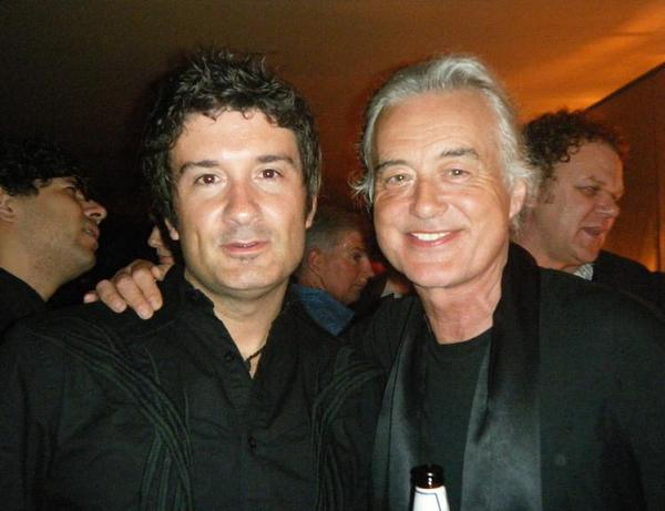 Randy Parsons with Jimmy Page