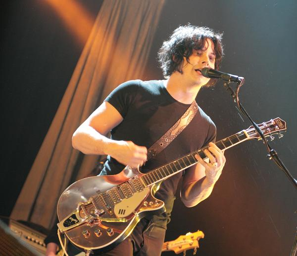 Jack White with the copper guitar