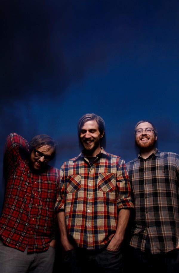From left to right: Chad Peck (Vocals/guitars), Kirstan Moore(bass), and Adam Hartling (drums/bass)